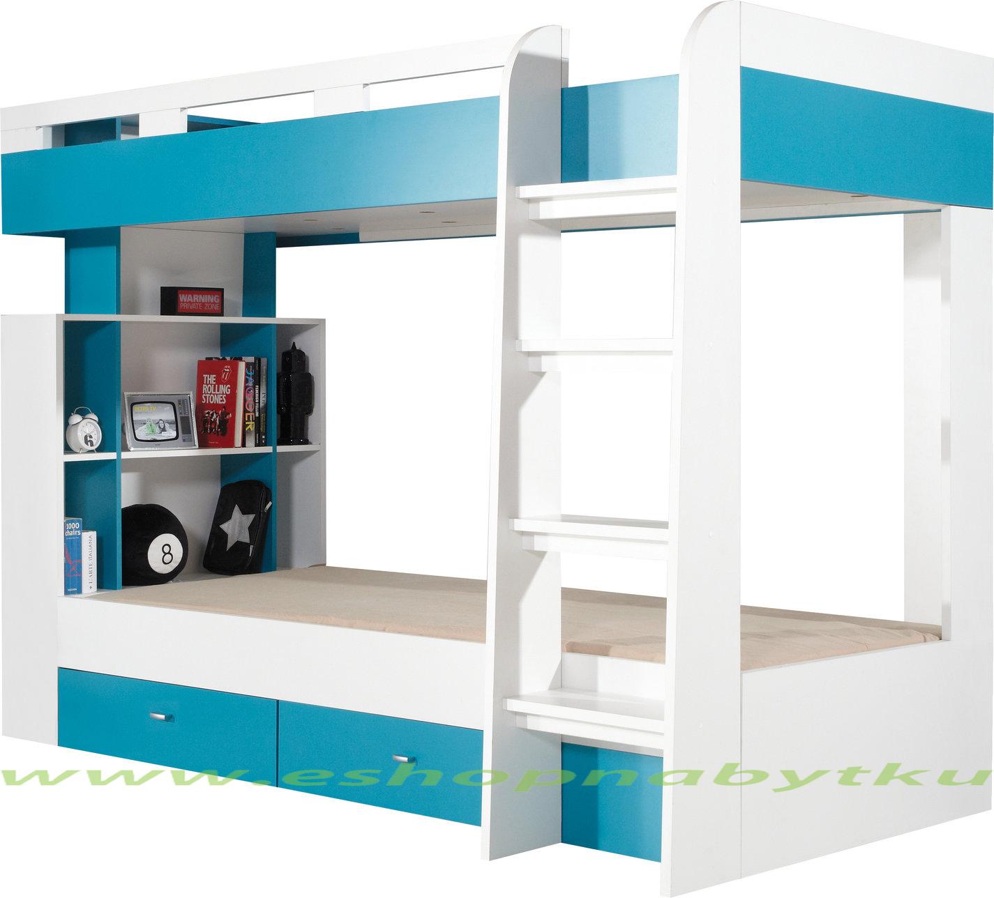 c17d04cbc63c3 Študentská /detská poschodová posteľ s úložným priestorom Poly 19